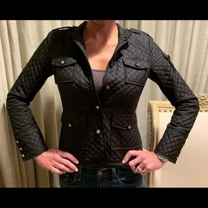 New Tory Burch quilted black jacket